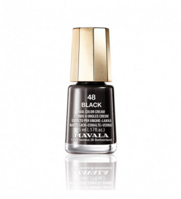 NAIL COLOR 48-black 5 ml